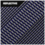 Super reflective paracord 50/50, Navi blue Wave #RW038