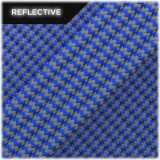 Super reflective paracord 50/50 , Royal blue Wave #RW376