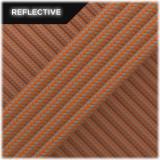 Super reflective paracord, Orange yellow Stripes #RSt044
