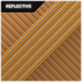 Super reflective paracord, Apricot Stripes #RSt045