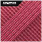 Super reflective paracord 50/50, Neon pink Stripes #RSt300