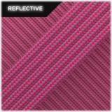 Super reflective paracord 50/50, Sofit pink Stripes #RSt315