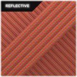 Super reflective paracord 50/50, Sofit Orange Stripes #RSt345