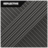 Super reflective paracord 50/50 , Black carbon Stripes #RSt407