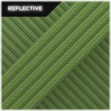 Super reflective paracord 50/50 , Green golf Stripes #RSt455
