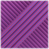 Paracord Type III 550, Neon Pink blue Stripes #203