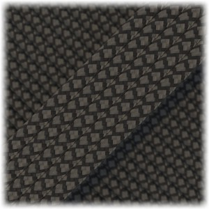 Paracord Type III 550, Black grey snake #266