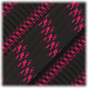 Paracord Type III 550, black with pink X #112