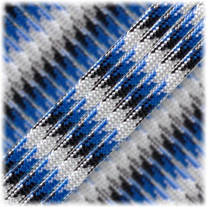 Paracord Type III 550, Blue black camo #104