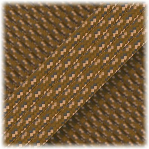 Paracord Type III 550, brown digital #332