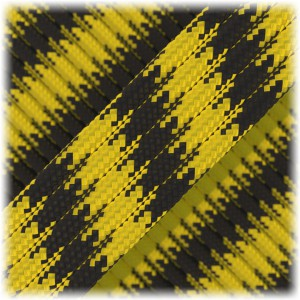 Paracord Type III 550, black yellow camo #043