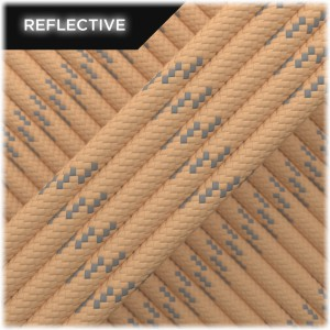 Paracord reflective, tan #r3068