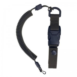 Quick release spiral lanyard, Army Green