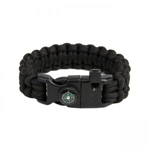 "Bracelet ""Cobra"" survival, Black"