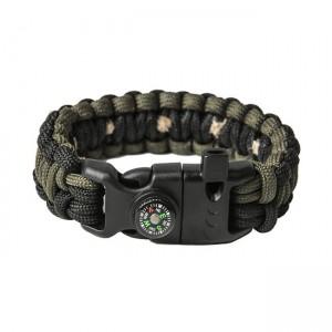 "Bracelet ""Cobra"" survival, Black and Army green"