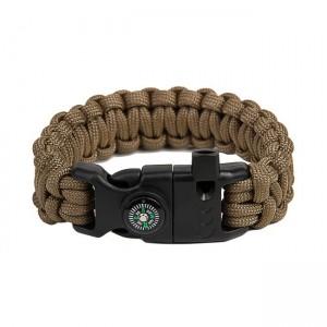 "Bracelet ""Cobra"" survival, Coyote brown"