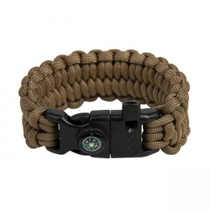 "Bracelet ""Loops"" survival, Coyote brown"