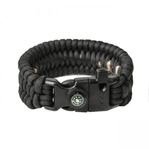 "Bracelet ""Trilobite"" survival, Black"