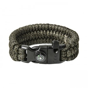 "Bracelet ""Trilobite"" survival, Black snake"
