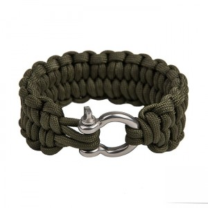 "Quick unravel bracelet ""Loops"", Army green"