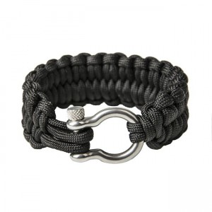 "Quick unravel bracelet ""Loops"", Black"