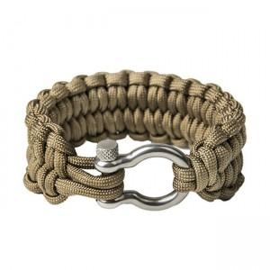 "Quick unravel bracelet ""Loops"", Coyote brown"