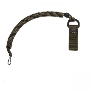 Spiral lanyard with a belt attachment, Veteran