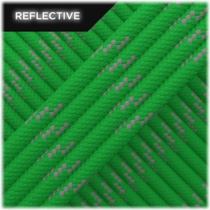 Paracord reflective, green #r3025