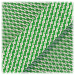 Paracord Type III 550, White green twist #389