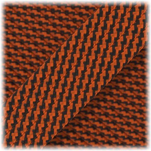 Paracord Type III 550, Black apricot twist #397