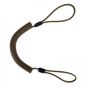Spiral lanyard with loops, Coyote brown