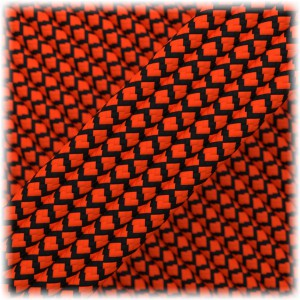 Paracord Type III 550, Soft Orange Black Snake #246