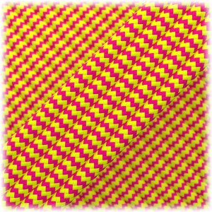 Paracord Type III 550, Soft Pink Soft yellow Wave #260