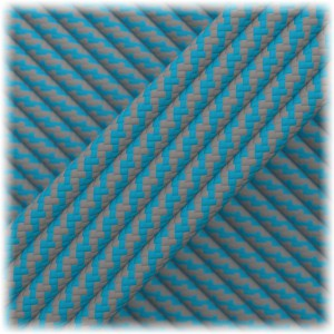 Paracord Type III 550, Dark grey Ice mint Twist #182