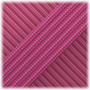 Paracord Type III 550, Dark grey Soft pink Stripes #187