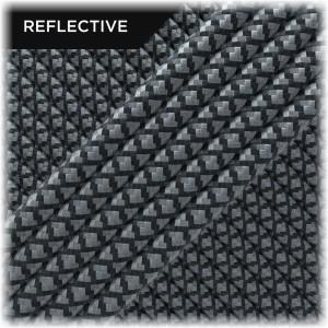 Paracord reflective, black/reflective snake 50/50
