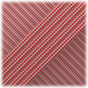 Paracord Type III 550, Silver Red Stripes #195