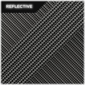Super reflective paracord 50/50, Black Stripes #RSt016
