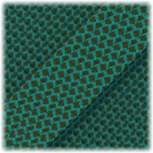 Paracord Type III 550, Ice mint moss snake #406