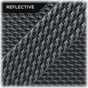 Super reflective paracord 50/50, Black Twist #RT016
