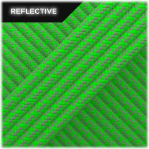 Super reflective paracord 50/50, Neon green Matrix #RM017