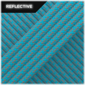 Super reflective paracord 50/50, Sky Blue Matrix #RM024