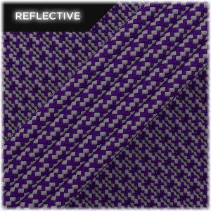 Super reflective paracord 50/50, Purple Matrix #026