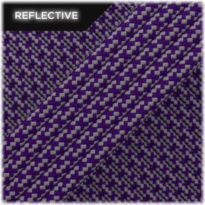Super reflective paracord 50/50, Purple Matrix #026