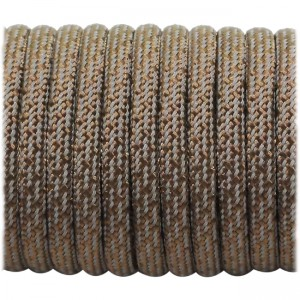 Super reflective paracord 50/50 , Chocolate Matrix #178