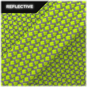 Super reflective paracord 50/50, Lime Snake #RS020