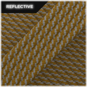 Super reflective paracord 50/50, Coyote brown Twist #RT012