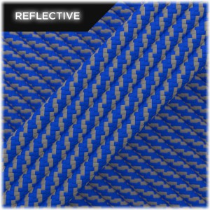 Paracord reflective, Blue Twist #RT001