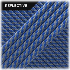 Super reflective paracord 50/50, Blue Twist #RT001