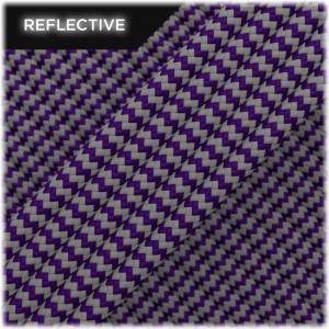 Paracord reflective, Purple Wave #026 50/50
